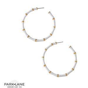 🌟HostPick 🌟Park Lane Kimono Earrings, White/Gold
